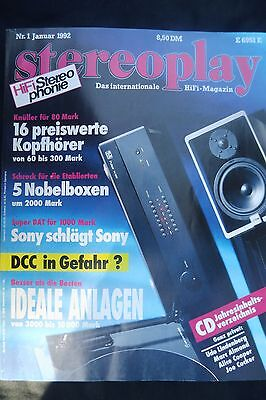 STEREOPLAY 1/92 SONY DTC 670 ES gegen DTC 57 ES,DENON DTU 2000,SONOFER SF 7 gebraucht kaufen  Kiel