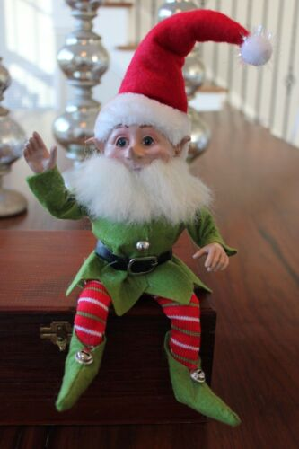 Elf Raz Elf Santa Elf Elves Poseable Red Green B Raz Imports Elf Ornament New