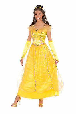 Adult Belle Beauty & The Beast Costume Disney Princess Size Standard - Adult Belle Costume