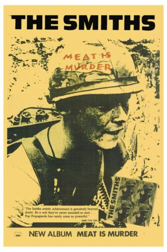 The Smiths: * Meat is Murder * UK Promotional Poster 1985   12x18
