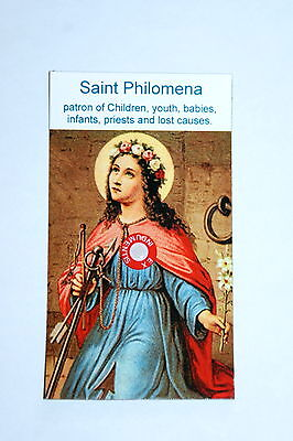 St Philomena Relic Card patron of youth, babies, infants, priests