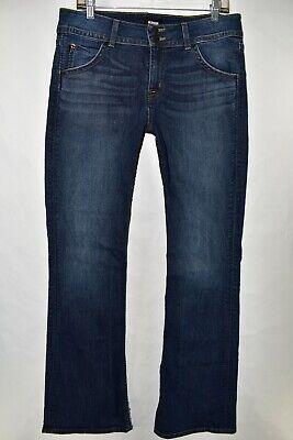 Hudson Midrise Signature Bootcut Boot Cut Jeans Size 31 Stretch Meas. 33x33 Flap