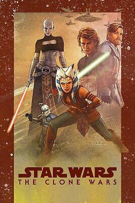 Star Wars The Clone Wars Poster 12x18