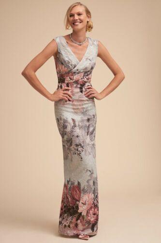 BHLDN Adrianna Papell Lilliana Ice Blue Pink Dress Formal V-Neck NWT Sizes 4-16