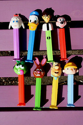 PEZ DISPENSERS MIXED LOT x 8 ~ Apple, Donald, Ben 10, Bob The Builder + 4 ~   #3