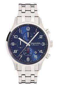 Gigandet Herrenuhr Red Touch Uhr Armbanduhr Edelstahl Blau Silber G51-005