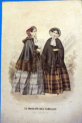 Po03 Frankreich Paris Kostüm Mode Gravur Mode Antik 19e - Kostüm Paris Frankreich