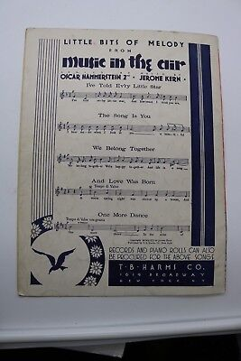 VINTAGE SHEET MUSIC MAKE BELIEVE SHOW BOAT MUSICAL