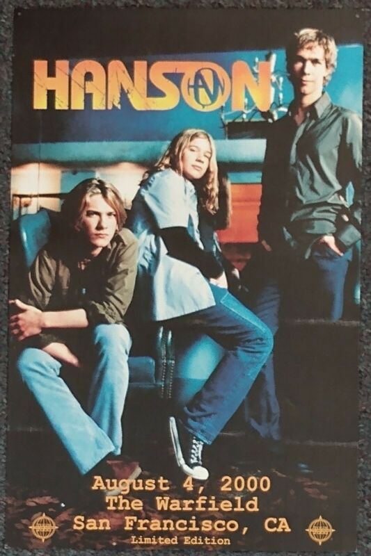 Hanson At the Warfield 2000 CONCERT POSTER