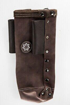 Heavy Duty Leather Welding Rod Holder Pouch Reinforced Bottom