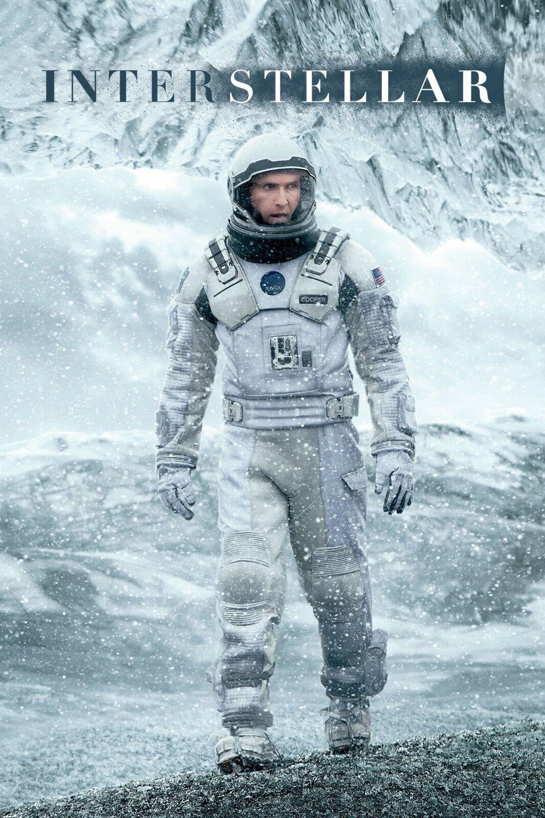 "/""Interstellar/"" .Matthew McConaughey..Classic Sci Fi Movie Poster 2 Various Sizes"
