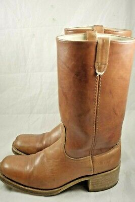 Acme Dingo Brown Leather Campus Cowboy Western Boots Mens Size 10.5 D Style 7282