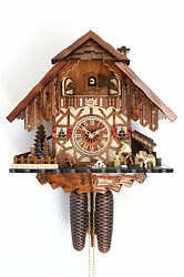 cuckoo clock hettich black forest 8 day original german  wood chopper new