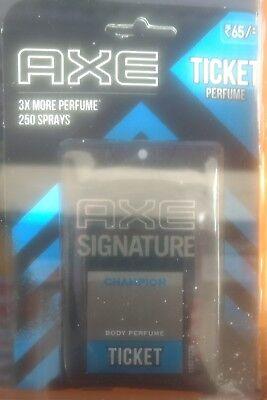 3 x Axe signature champion ticket body perfume Pocket Perfume,17 Ml 250 spray fs