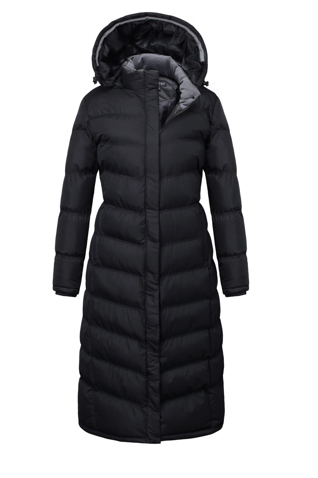 Women Plus size Hooded Winter Warm Full Length Padded Quilte