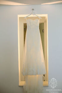 Strapless pronovias la sposa denia wedding gown dress free veil ebay