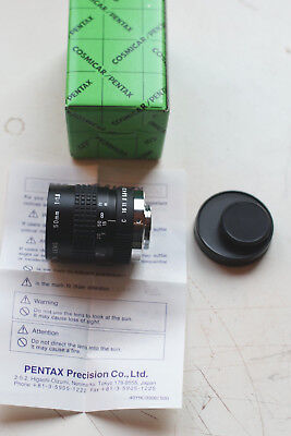 Pentax Cosmicar 50mm F1.8 C-mount TV Lens BMPCC Bolex Nikon1 Gh4 Pentax Q adapt.