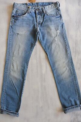 MIC CANE HOMME Slim-Skinny Low Waist Jeans Hose used Bio Denim W32/L34 Neu 10 ()
