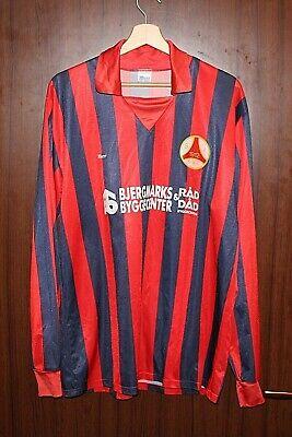 MATCH WORN 1980's SIK DENMARK Football SHIRT Jersey sz XXL Berri Tricot Camiseta image
