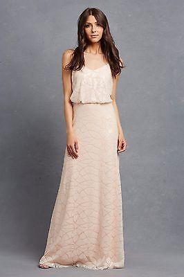 Donna Morgan 'Olivia' Spaghetti Strap Sequin Blouson Gown (Size 12)