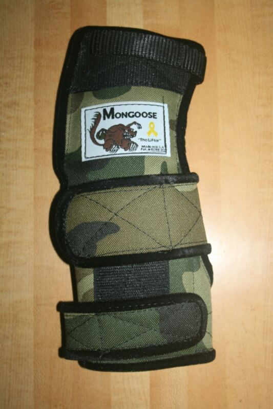 "Mongoose ""Lifter""  Bowling Wrist Support, MRLC, Right Hand, Medium, Camo"