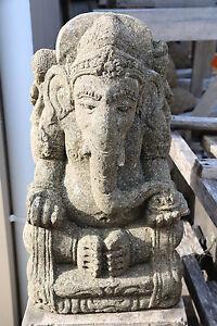 NEW Balinese Hand Carved Greenstone Ganesh - Carved Ganesha Garden Statue