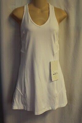 NWT Lululemon Ace White Tank Tennis Dress 6 S M