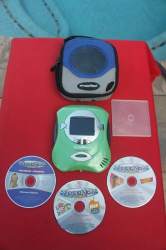 Video Now Color Personal Video Player Blue 3 discs & case