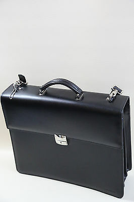 jACK GEORGES Elements Collection Triple Gusset Flap Briefcase