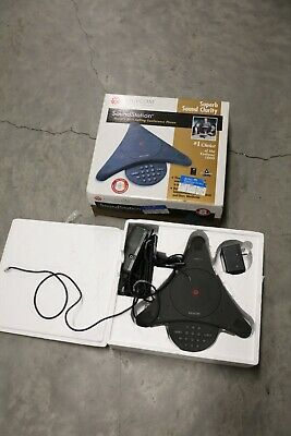 Polycom Soundstation 2201-03308-001 C Conference Phone And Premier Wall Module