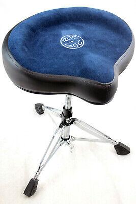 Roc-N-Soc NROB Nitro Series Drum Throne w// Saddle Seat /& Matching Backrest Blue