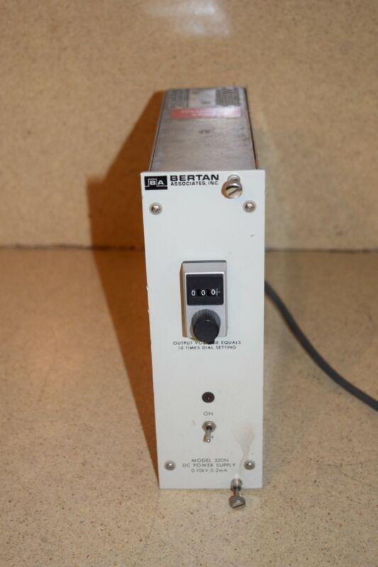 BERTAN MODEL 320N DC POWER SUPPLY 0-10KV 0-2MA PLUG IN (TP614)