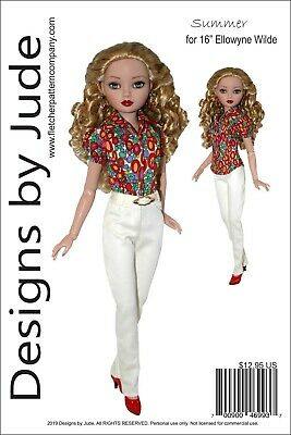 Summer Doll Clothes Sewing Pattern 16