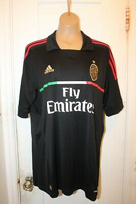 ADIDAS AC MILAN Football Soccer Jersey Men's XL Black 3rd Away 2011/12