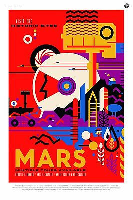 Visit the Historic Sites Mars Multiple Tours Available NASA POSTER