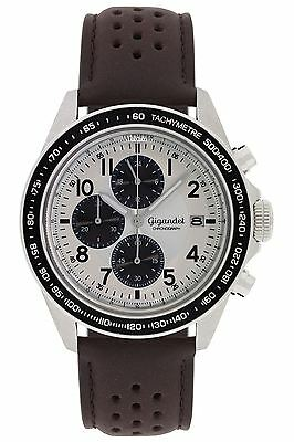 Gigandet Racetrack Herrenuhr Chronograph Datum Lederarmband Braun G24-007