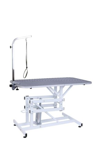 Z-Lift Hydraulic Pet Grooming Table W/Adjustable Arm Noose for Dog and Cat