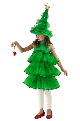 Glitter Christmas Tree Costume Girls Holiday Dress as seen on Chasing Fireflies (Tree Dress Up Costume)