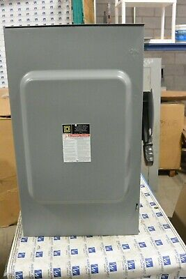 H364rb Square D 200 Amp 600 Volt Fusible 3r Outdoor Disconnect - Refurbished