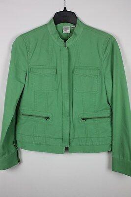City DKNY Green Zip Front Jacket Eisenhower Style Size - Dkny Zip Front Jacket