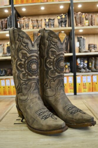 Corral, Mens, Distressed, Brown, Leather, Pointed, Toe, Cowboy, Boots, A3305