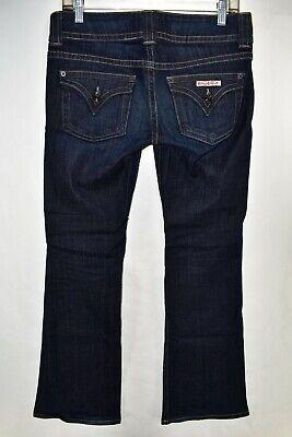 Hudson Signature Petite Bootcut Flap Pocket Jeans Size 27 Stretch Meas. 31x29.5