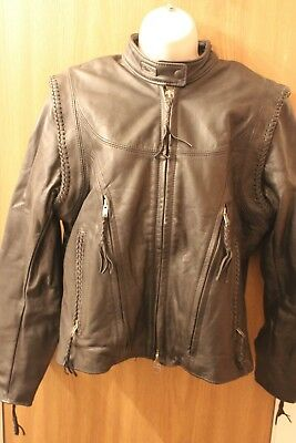 Women's Harley Davidson Willie G Jacket with Zipout Sleeves & Liner Size Medium