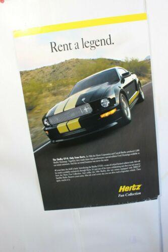 2006 Poster Carroll Shelby Orig Vintage Hertz GT350 Mustang SVT Racing SVO SAAC