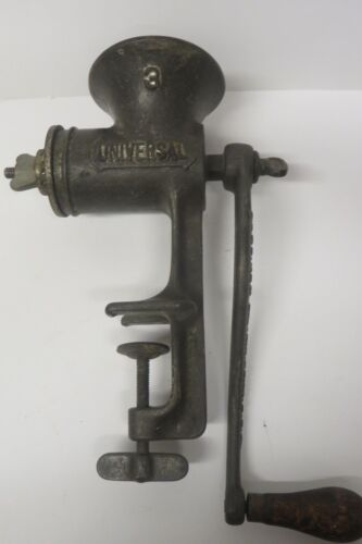 Antique Universal Meat Grinder No. 3 Tabletop Hand Crank USA Made
