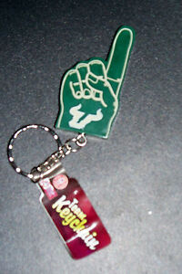 University-of-South-Florida-Bulls-Keychain-1-Finger-USF-Bulls-NIP