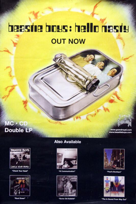 Beastie Boys 1998 Hello Nasty Original Discography Poster