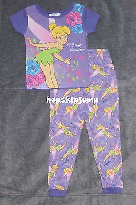 Disney Tinkerbell Purple Cotton Pajamas 3t 4t Nip