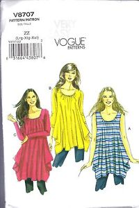 Vogue 8707 Women's Plus tunic UC-FF Pattern sz16-26