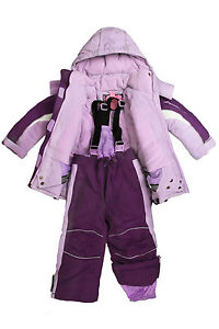 Dopodopo Girls Ski/Snow Wear Jacket/Pants in Pink/Purple Size3-10